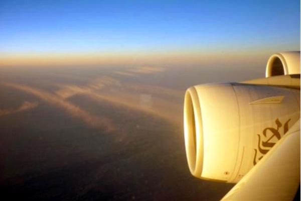 über den Wolken Richtung China