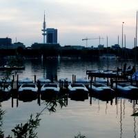 Boote auf der Alster