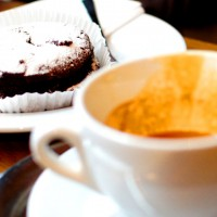 Cappuccino mit Schokobrownie