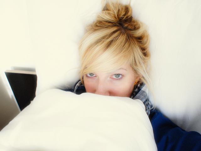 Mia krank im Bett