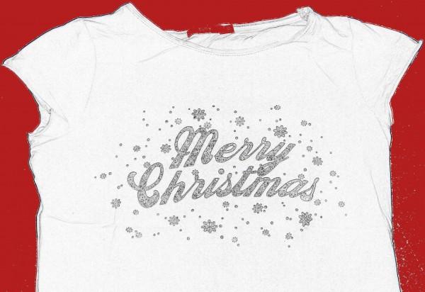 "T-Shirt mit Print ""Merry Christmas"""