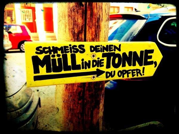eindeutige Botschaften auf St. Pauli fotografiert von Mia