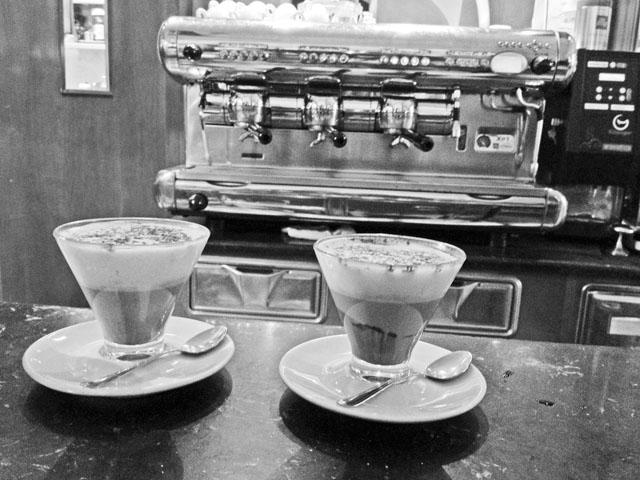 Cafe Marocchino im Antico Caffe in Cagliari