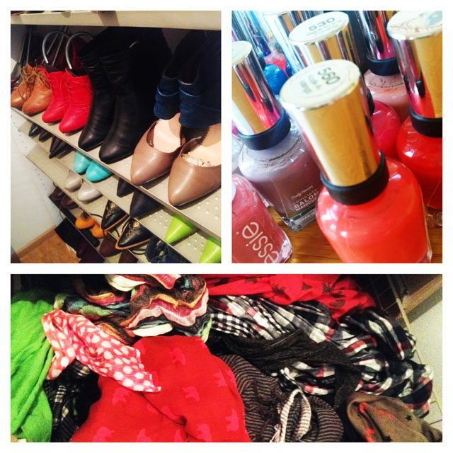 Mias Faible: Schuhe, Nagellack, Tücher