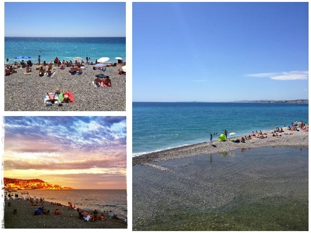 Strand von Nizza, Frankreich
