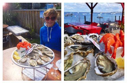 Austern essen in Cap Ferret