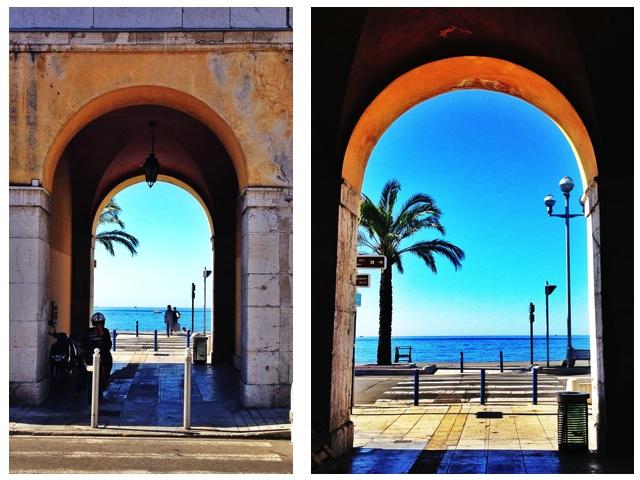 Meerblick, Nizza, Frankreich