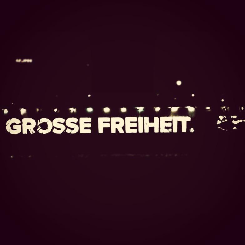 """Hamburger Hafen bei Nacht """"Grosse Freiheit"""""""