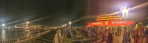 Platz des himmlischen Friedens in Beijing bei Nacht