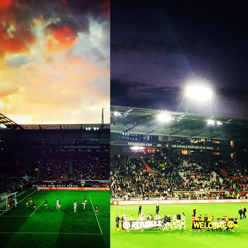 Millerntor auf St. Pauli: Freundschaftsspiel FCSP-BVB 2015