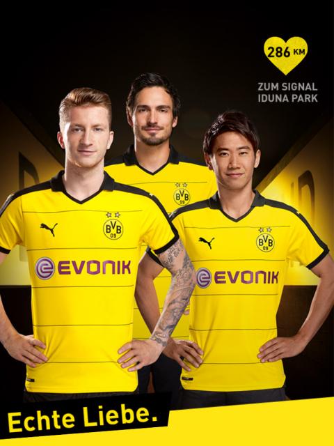 Entfernungen: Cocos KLZ zum Dortmunder Westfalenstadion gemessen in der BVB iPhone App