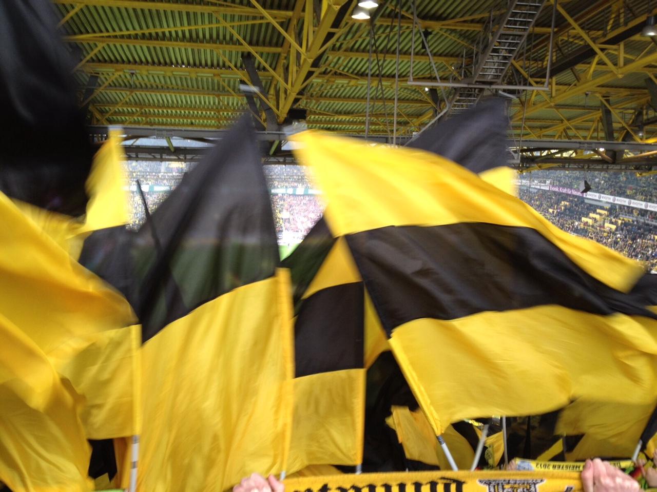 Signal Iduna Park, Dortmund, Westfalenstadion, Fahnen